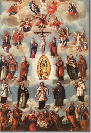 Asamblea de santos en el cielo