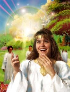 people in heaven happy