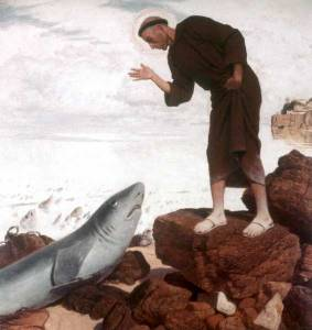 San Antonio predica a los peces
