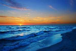 amaneceren la playa