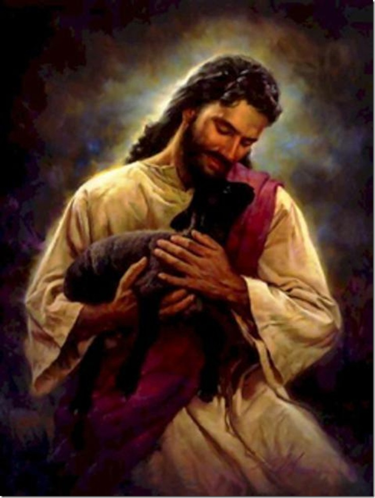 jesus y la obeja perdida