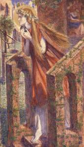 Mary Magdalene leaving the house feasting 1857 by Dante Gabriel Rossetti 1828-1882