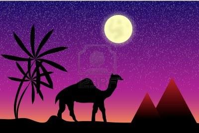 1egipto-con-palmeras-piramides-y-camel