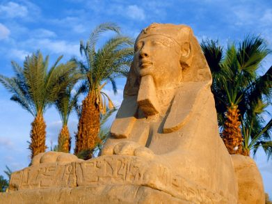 1Sphinxes, Luxor, Egypt