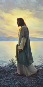 Christ Walking On Shoreline 001