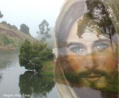JESUS CON UN PAISAJE
