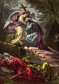 1JESUS EL ANGEL Y SUS DICIPULOS DURMIENDO