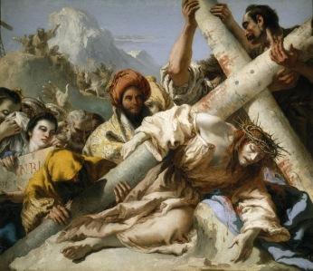 Caida en el camino del Calvario - Giandomenico Tiepolo - 1772