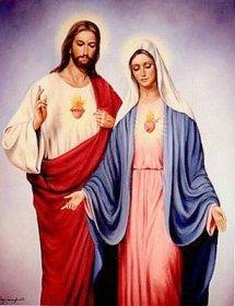 Jesús acompañado de la Bella María