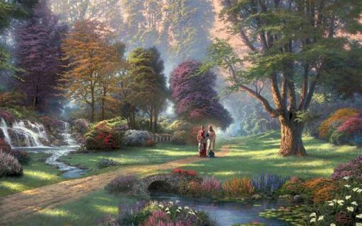 jesus-caminando-tierras-del-paraiso-L-iOMOg_