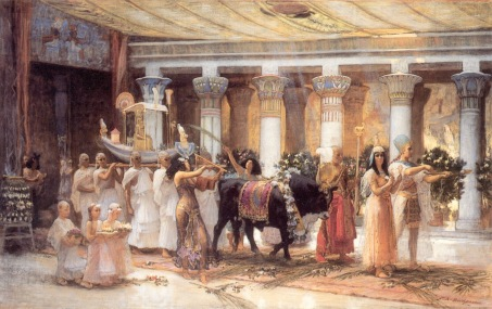 SACRIFICIO EGIPCIO the_procession_of_the_sacred_bull_anubis-huge
