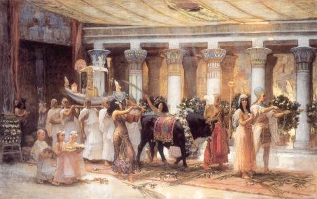 SACRIFICIO EGIPCIO the_procession_of_the_sacred_bull_anubis-huge