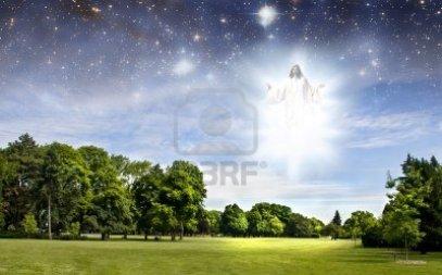 -segunda-venida-de-jesus-en-un-parque-de-verano