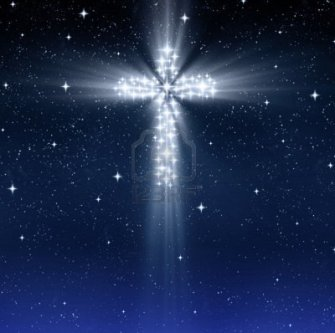 8263311-brillante-christian-cruz-en-el-cielo-estrellado-en-navidad