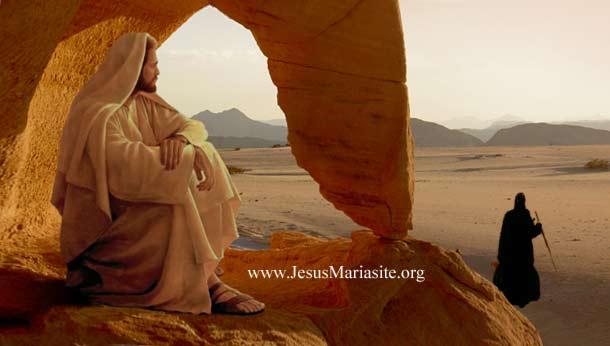 Resultado de imagen para jesucristo en el desierto