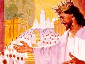 53Jesus recibiendo a los santos