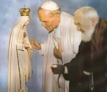 Juan Pablo II_la Virgen y Padre Pio
