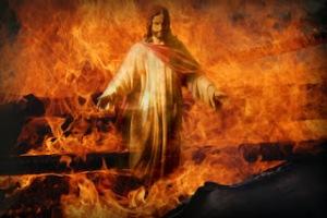 Jesus camina sobre el fuego