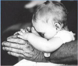 padre e hijo orando