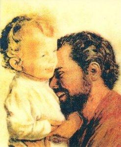 San_Jose y Jesus riendo_