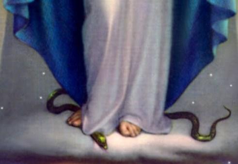 Pisando na serpente - Nossa Senhora da Graças
