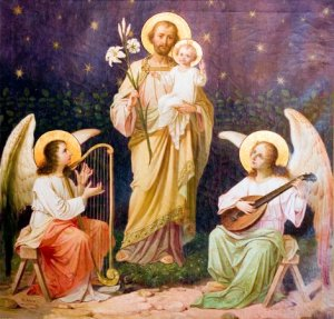 St_ Joseph and Jesus and Angelic Music by H_ Krane
