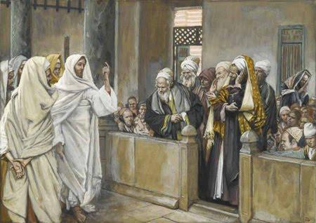 Fariseos - MANIFIESTA SU AUTORIDAD A LOS FARISEOS_-JAMES TISSOT_-S_ XIX