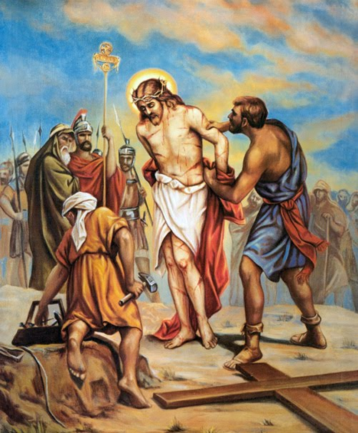 Jesus stripped of his garments