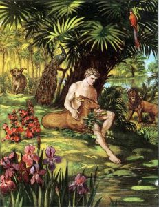 Adam in the Garden of Eden Genesis 2:7-8