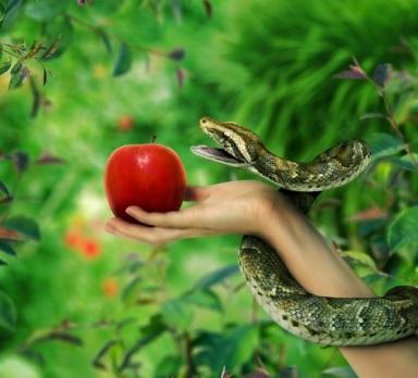 Manzana Eva serpiente paraiso