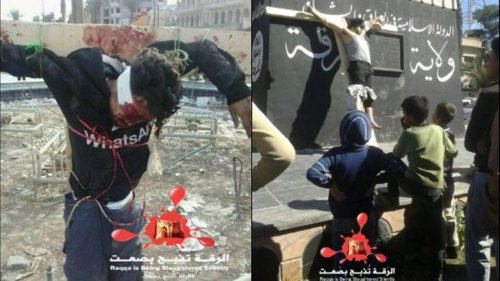 crucificados en siria