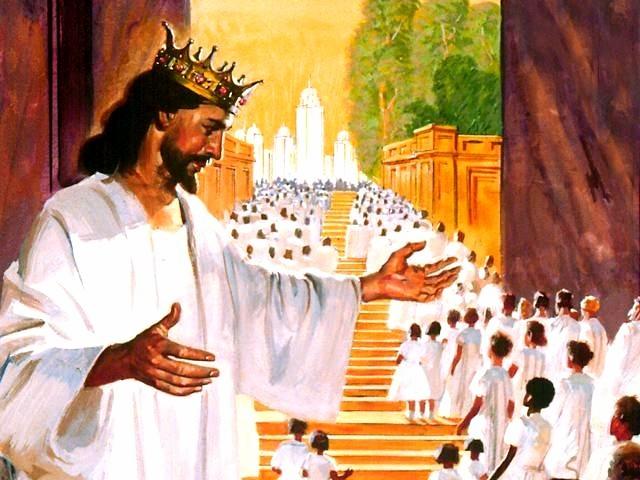 jesus welcoming us into heaven
