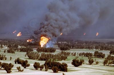 Kuwait pozos en llamas 1991