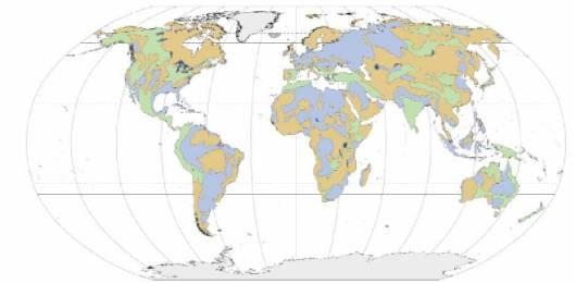 Mapa de los acuíferos en todo el mundo