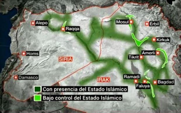 Mapa Estado Islámico 2
