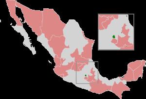 EN ROSA LOS ESTADOS QUE NO ACEPTAN EL ABORTO EN MÉXICO