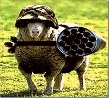 oveja armada ¡Guerra,guerra vs lucifer!