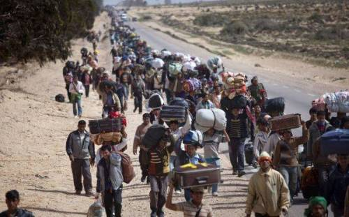 refugiados sirioshuyendo de laguerra