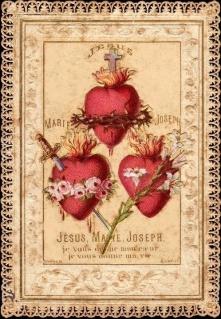 corazones jesus maria y jose