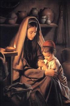 fe Jesus Praying w Mary