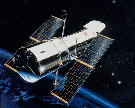 This is an artist's rendition of the Hubble Space Telescope (HST).