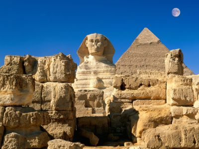 00Great Sphinx, Chephren Pyramid, Giza, Egypt