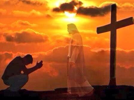 00adorando a jesus ante la cruz