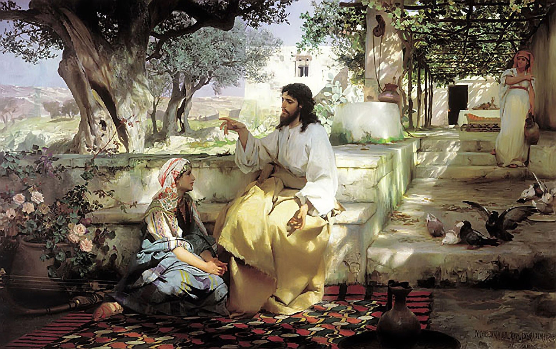 Christ with Martha and Maria Henryk Semiradsky, 1886