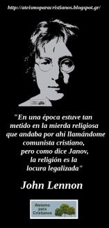 Frases celebres Ateismo cristianismo dios jesus biblia religion catolicos creyentes John Lennon beatles musica