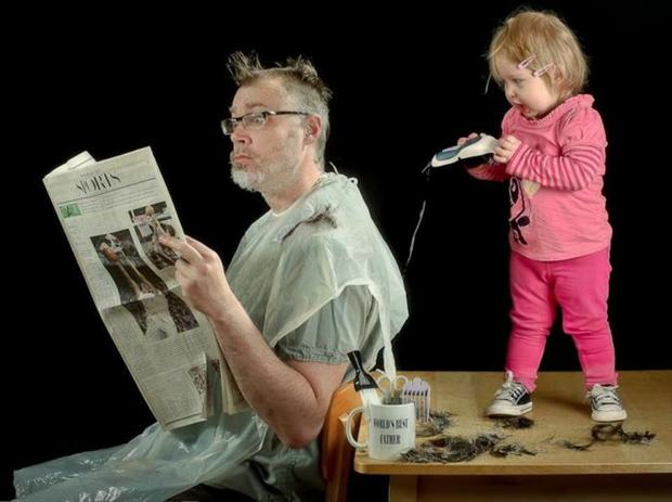 niño peluquero