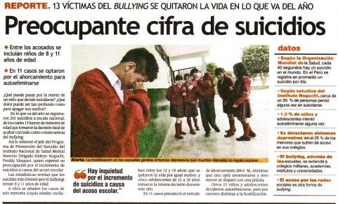 DE SUICIDIOS x bulling