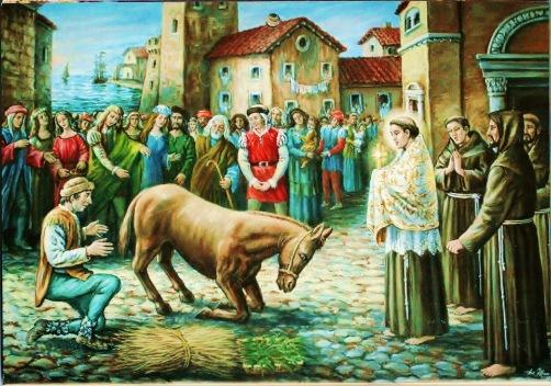 San Antonio y la mula
