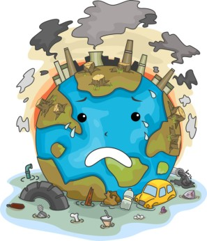 mundo Illustration of Crying Earth Due to Pollution