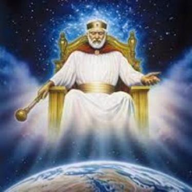 dio padre ensu trono